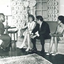 Image of Jamaica - Dr. and Mrs. Walsh visit Governor General Sir Clifford Campbell and Lady Campbell.