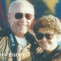 Image of Eldon Ellis and Ginny Ellis at 1993 reunion in Albuquerque.