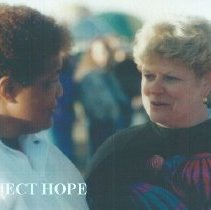 Image of Sister Thelma Mitchell and unknown at 1993 reunion in Albuquerque.