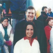 Image of Gail Wilensky and Bill Walsh, Jr at the 1993 reunion in Albuquerque.