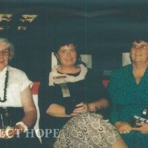 Image of Unknown, Ann MacGillis, and Irene Machadoat the 1993 reunion in Albuquerque