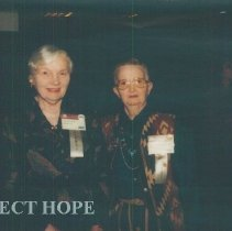 Image of Eunice Childs and Lee Olive Harrison at the 1993 reunion in Albuquerque.