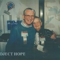 Image of John MacGregor and Lee Olive Harrison at the 1993 reunion in Albuquerque.