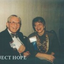 Image of John MacGregor and unknown at the 1993 reunion in Albuquerque.