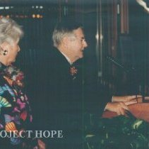 Image of Helen Walsh and William B Walsh at the 1993 reunion in Albuquerque.