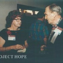 Image of Sylvia Chapman and unknown at the 1993 reunion in Albuquerque.