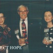 Image of Unknown, Paul Cherney and Unknownat the 1993 reunion in Albuquerque.