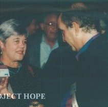 Image of Grace Tucker and unknown at the 1993 reunion in Albuquerque.