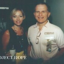Image of Unknown and Stephen Schonfield at the 1993 reunion in Albuquerque.