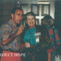 Image of Roshdy and Sherrel Roshdy Bradford at the 1993 reunion in Albuquerque.