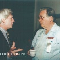 Image of Robert Crone and unknown at the 1993 reunion in Albuquerque.