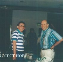 Image of Ed Maggiore, Ed and Roy Velling at the 1993 reunion in Albuquerque.