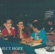 Image of Kathleen Williams, Naomi Nakashima at 1993 reunion in Albuquerque