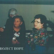 Image of Dorothy Aeschliman, Dorothy and unknown at 1993 reunion in Albuquerque