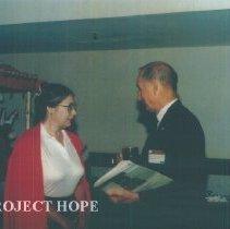 Image of Linda Nims and unknown at 1993 reunion in Albuquerque
