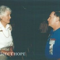 Image of Helen Walsh and unknown at 1993 reunion in Albuquerque