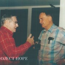 Image of Dr Walsh and unknown at the 1993 reunion in Albuquerque.