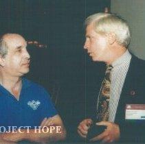 Image of David Rosenman and Robert Crone at 1993 reunion in Albuquerque