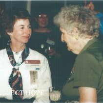 Image of Carol Hendrick and unknown at 1993 reunion in Albuquerque.