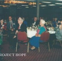 Image of l-r Judy Berner, unk, Hal Royaltey, John MacGregor and Eldon Ellis 1993.