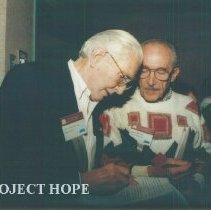 Image of John MacGregor and Eldon Ellis at the 1993 reunion in Albuquerque.