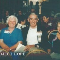 Image of Alice Royaltey, Hal Royaltey and Ann Ledford at 1993 reunion in Albuquerque