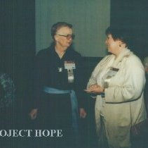 Image of Lee Olive Harrison and unknown at the 1993 reunion in Albuquerque.