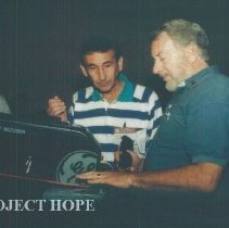 Image of Ed Maggiore and Wally Chipman at the 1993 reunion in Albuquerque.