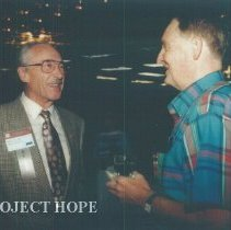 Image of Eldon Ellis and unknown at the 1993 reunion in Albuquerque.
