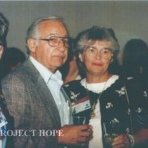 Image of Joanne Jene and unknown at the 1993 reunion in Albuquerque.