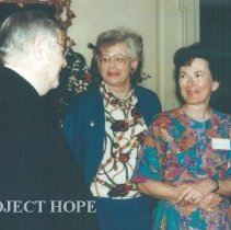Image of William B Walsh, Jean Kohn and unknown