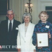 Image of Dr & Mrs Hurd, Vicky Cuddy and Bill Walsh, Jr
