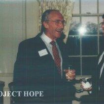 Image of Eldon Ellis and Warren Grupe at Carter Hall.