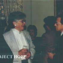 Image of Jean Kohn and Lewis Pierce at Carter Hall.
