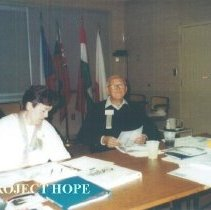 Image of Alumni board meeting at HOPE Center with Judy Berner and Sam Kron