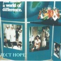 Image of Display at an Alumni Board meeting at HOPE center.