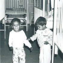 Image of Two young patients aboard the SS HOPE in Ceylon in 1968.