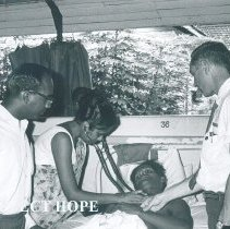 Image of Eugene Loeser with counterparts in Colombo General Hospital in Ceylon.