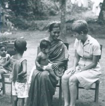 Image of Nancy Brandes, Public Health Nurse with the SS HOPE in Ceylon.