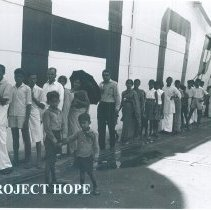 Image of Public tours aboard the SS HOPE the day before she departed Ceylon.
