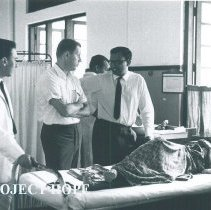 Image of Gilbert Mueller with counterparts at Kandy General Hospital in Ceylon.
