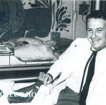 Image of William B Walsh with Pediatric patient on the SS HOPE in Ceylon.