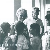 Image of Helen Walsh and Bill McDiarmid at the school of the Deaf in Colombo Ceylon.
