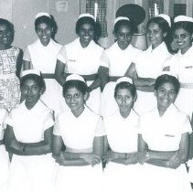 Image of Ceylonese student nurses on the SS HOPE in Ceylon.