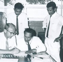 Image of Clemente Hiebert with counterparts at Colombo General Hospital in Ceylon.