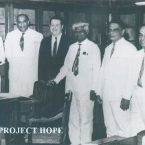 Image of First meeting of William B Walsh and the doctors in Colombo, Ceylon.