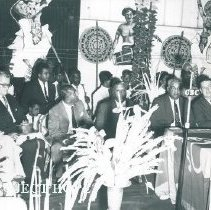 Image of Welcoming ceremonies held in Colombo, Ceylon port 1968.