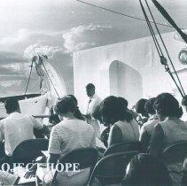 Image of Sunrise Easter Folk Mass 1968 on the SS HOPE in Ceylon.