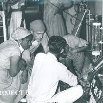 Image of Donald Rowles with counterparts in Colombo General Hosp in Ceylon.