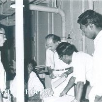 Image of Adib Karam with counterparts on the SS HOPE in Ceylon.